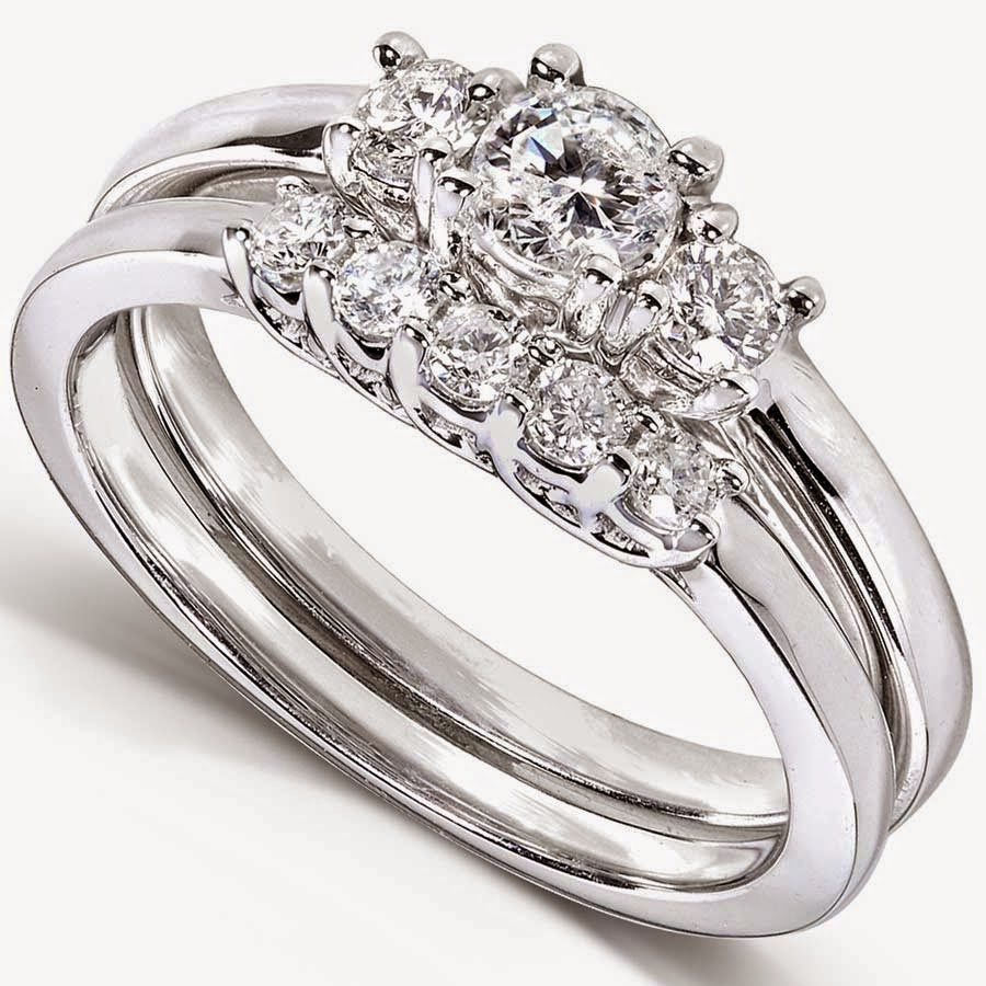 designer simple wedding engagement ring sets with diamond