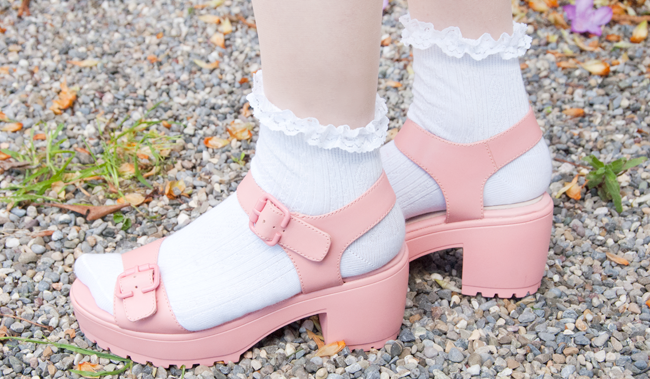 chunky sandals, pink, topshop