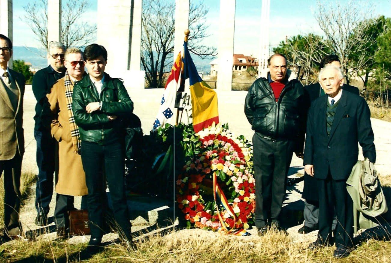 Horia Sima în dreapta imagini la Majadahonda - Ianuarie 1992