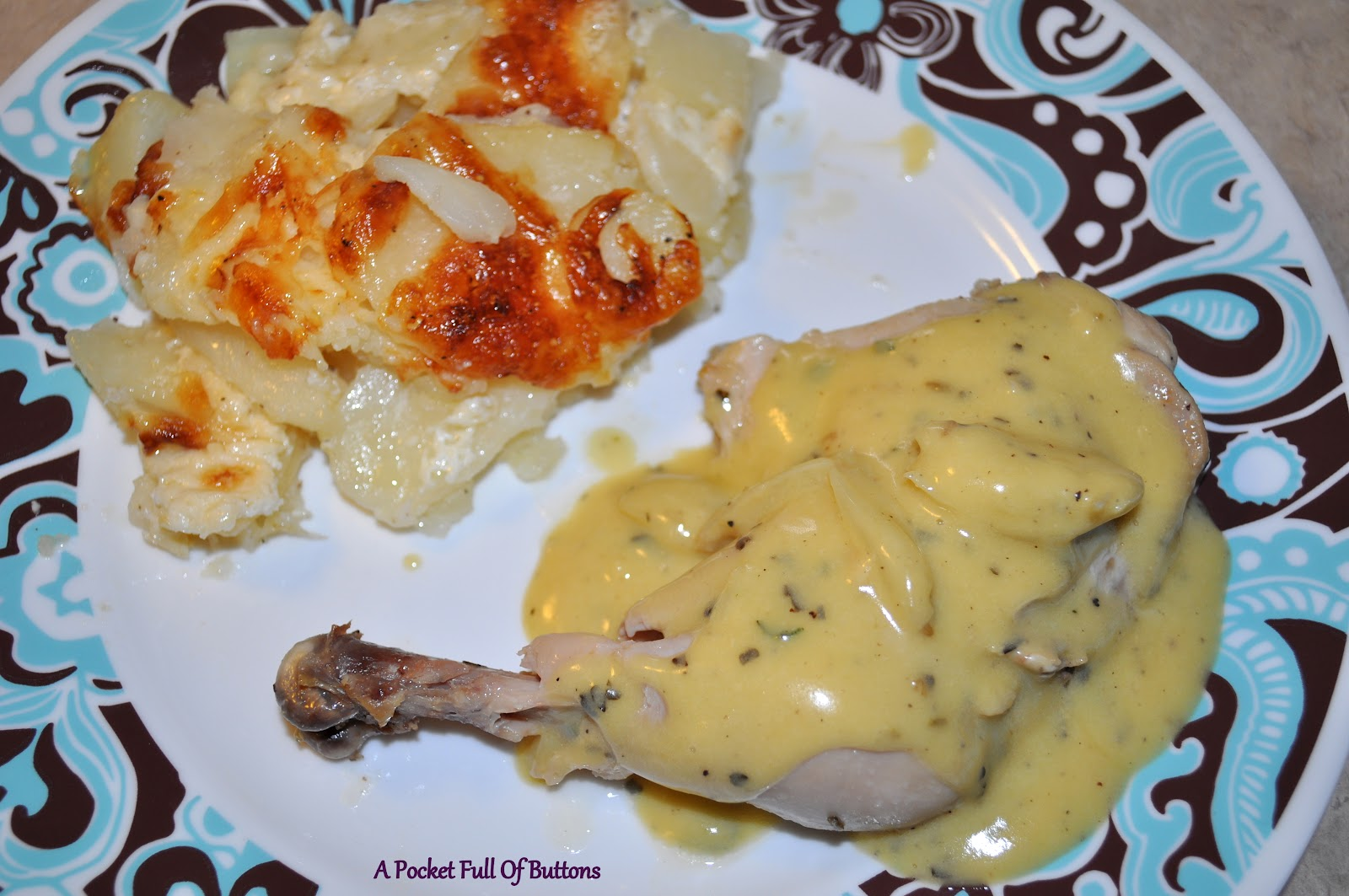 Of Buttons: Poulet Saute aux Herbes de Provence with Gratin Dauphinois ...