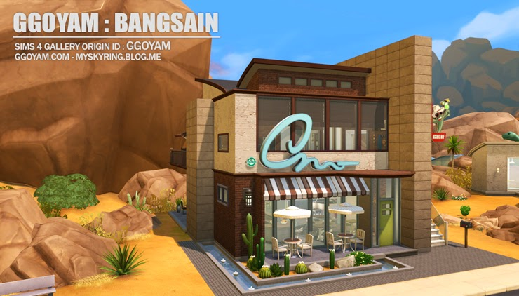 My sims house with bar restaurant by bangsain