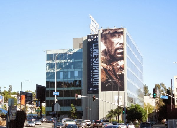 Giant Lone Survivor movie billboard