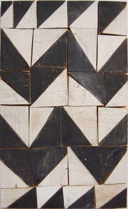 Revestimento reutilize sobras de madeira