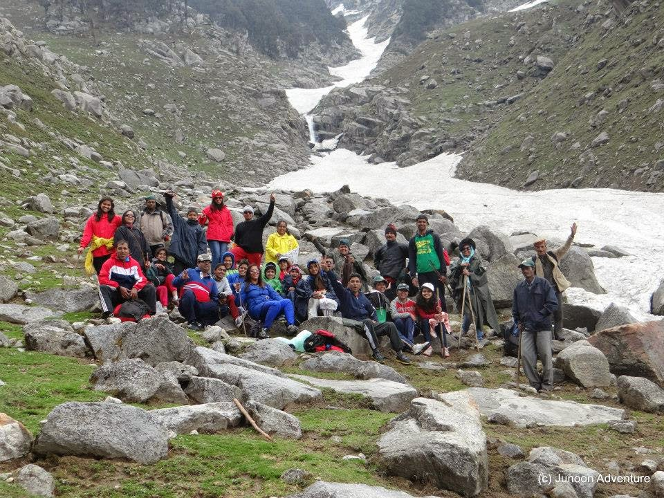 Trekking on glacier