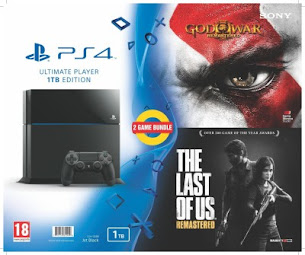 Sony PlayStation 4 (PS4) 1 TB with God of War III and The Last of Us Remastered