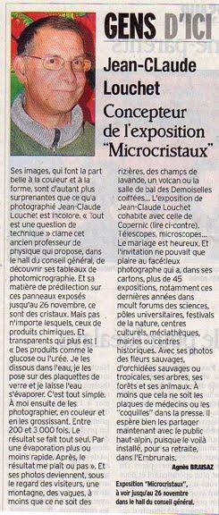 MICROCRISTAUX  Conseil Général Gap 2010