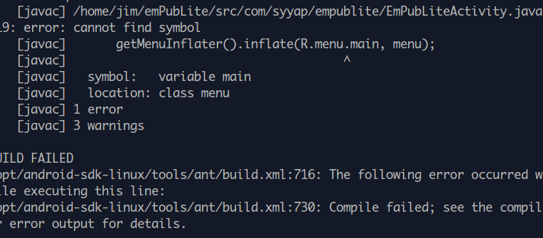 Algobots Android Error Cannot Find Symbol Rnu Solved