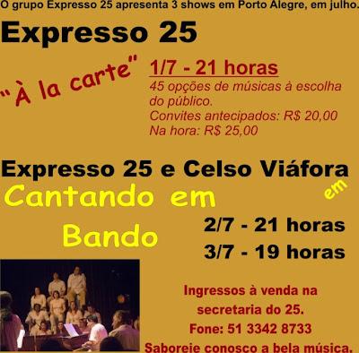 Para quem estiver em Porto Alegre