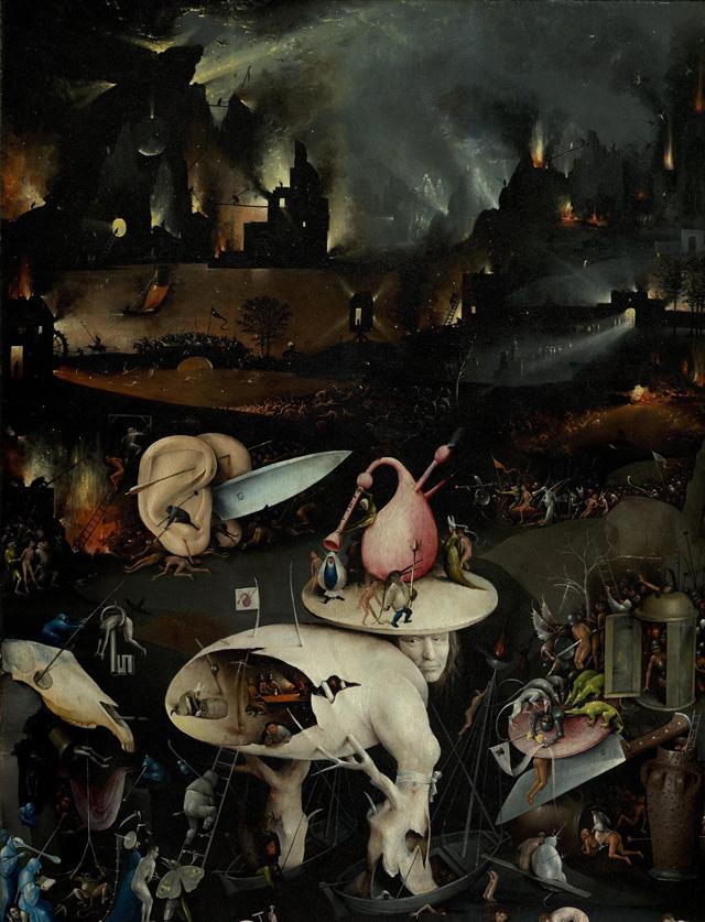 Lomos de tela hieronymus bosch tr ptico el jard n de las delicias o la pintura del madro o - Jardin infierno ...