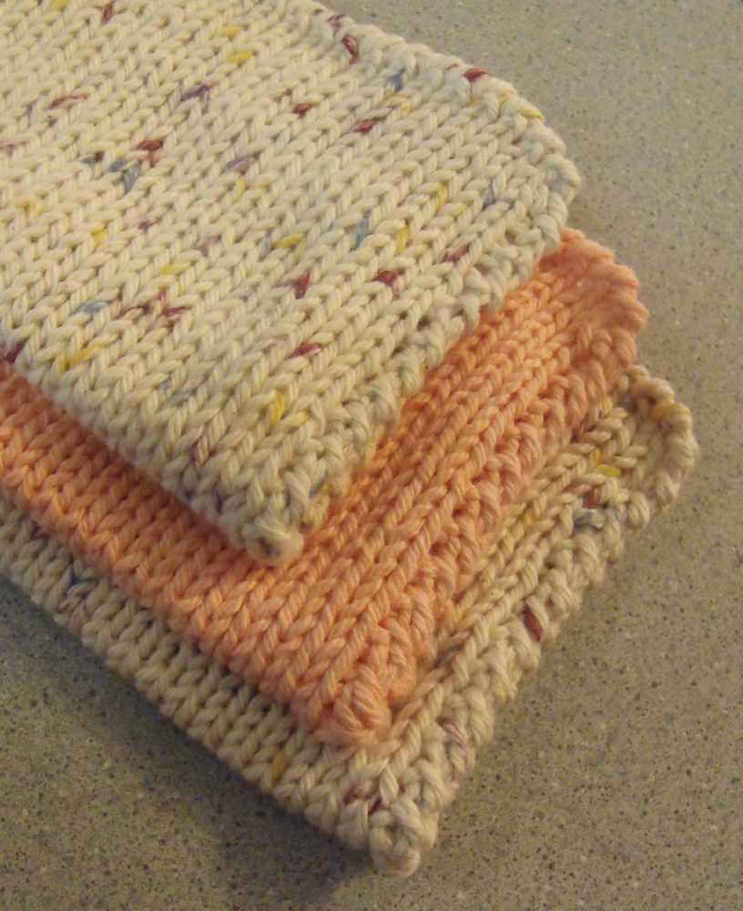 Simple Dishcloth Knitting Pattern : KweenBee and Me: Knit Another Dishcloth