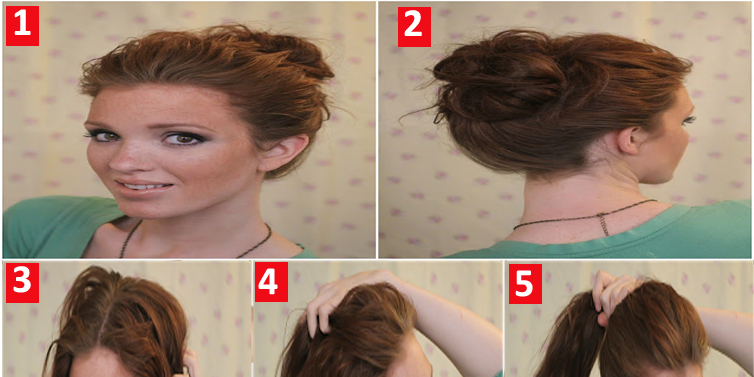 Get quick messy bun hairstyle in 10 second emaggy for Accentric salon calgary
