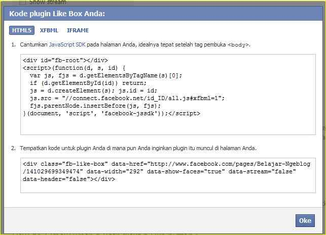 Membuat Facebook Page di Blog http://blogbelajar2.blogspot.com/