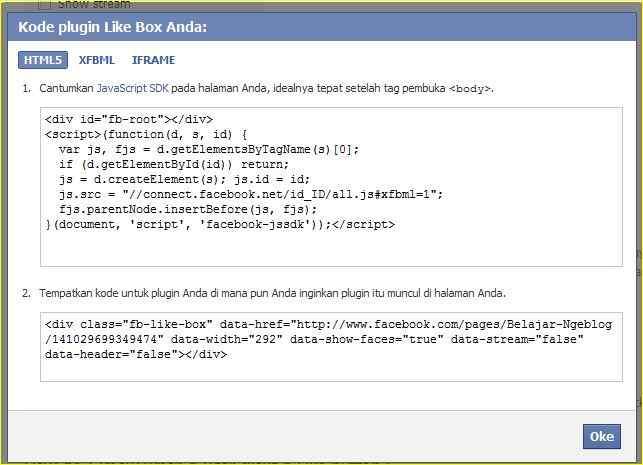 Membuat Facebook Page di Blog http://blogbelajar2.blogspot.com/