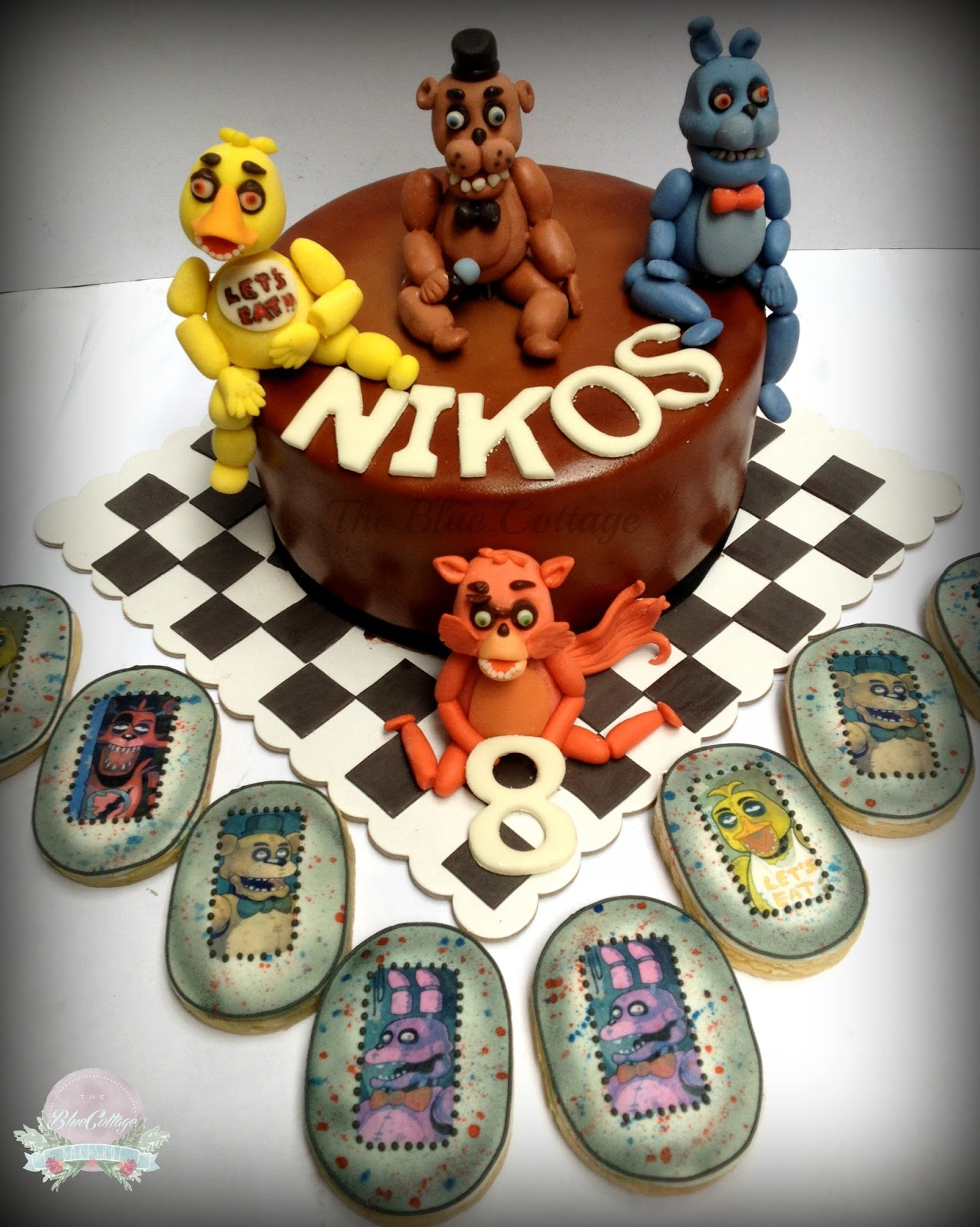 Ideas five nights at freddy party - Birthday Cake Five Nights At Freddy S Cake And Cookies