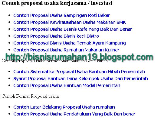 Kumpulan Contoh Proposal Usaha Berbagai jenis Bisnis Terlengkap