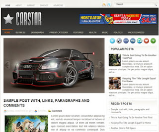 CarStar Blogger Template