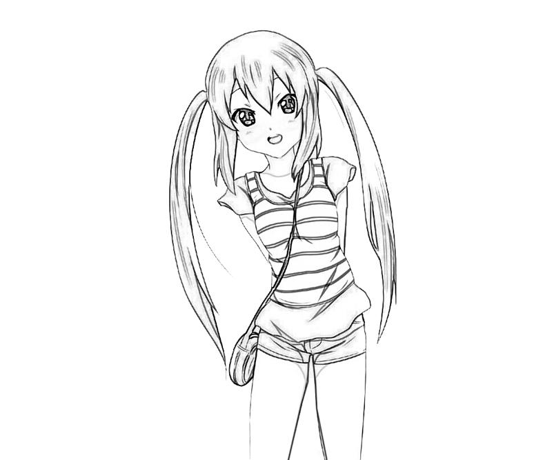 k-on-after-school-live-azusa-nakano-style-coloring-pages