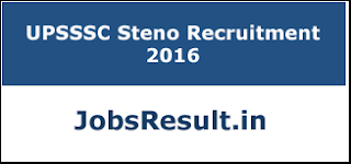 UPSSSC Steno Recruitment 2016