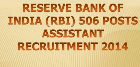 RBI 506 Posts Assistant Recruitment 2014-15 @ www.rbi.org.in