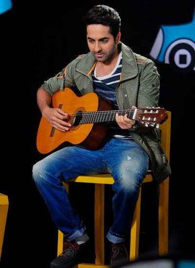 Ayushmann Khurrana on the sets of 'Captain Tiao'