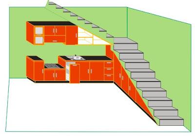 Kitchen-set dibawah tangga