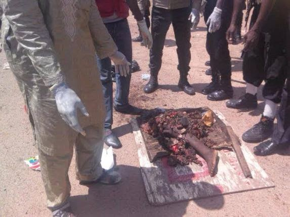 Graphic Photo: The Remains Of Kano Female Suicide Bomber