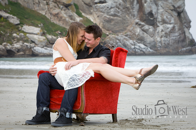 Bri and Nick came up from Westlake for an awesome engagement portrait session out at Moro Bay. They were so excited about their photography that they book me to shoot their wedding over a year in advance. We had a blast during the photo shoot on the beach and the dunes near Morro Rock and, at times were we were quite a distraction to the surfers and passerby's.