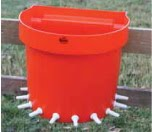 Lamb Feeding Rail Bucket 10-Place (Tempat Minum Kambing 10 Dot)