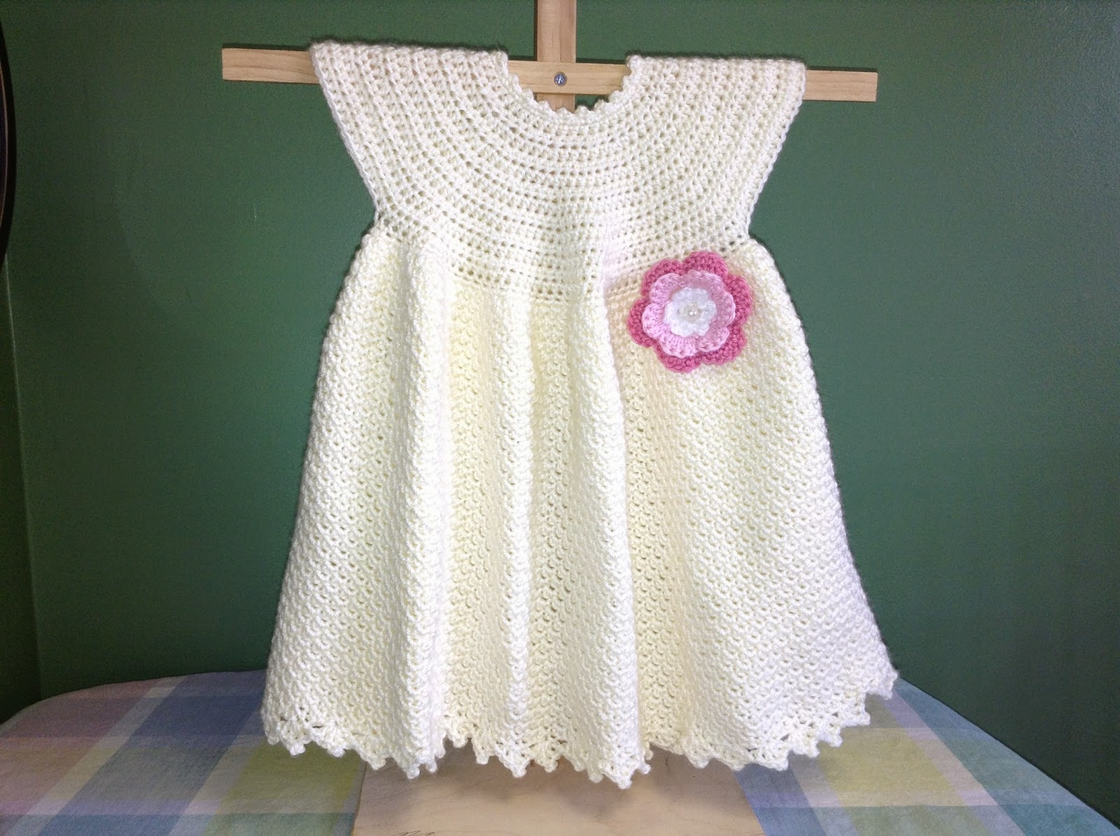Crochet Baby Dress Free Pattern By Kitty For K : Annas Free Baby Crochet Dress Patterns - Inspiration and ...
