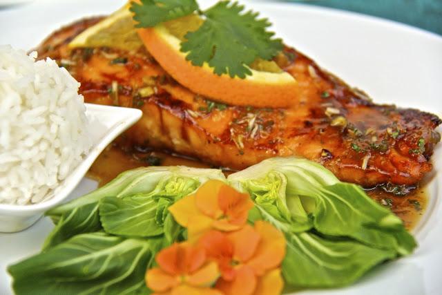 ... Salmon w/ Sweet & Spicy Orange-Coconut Sauce | The Café Sucre Farine