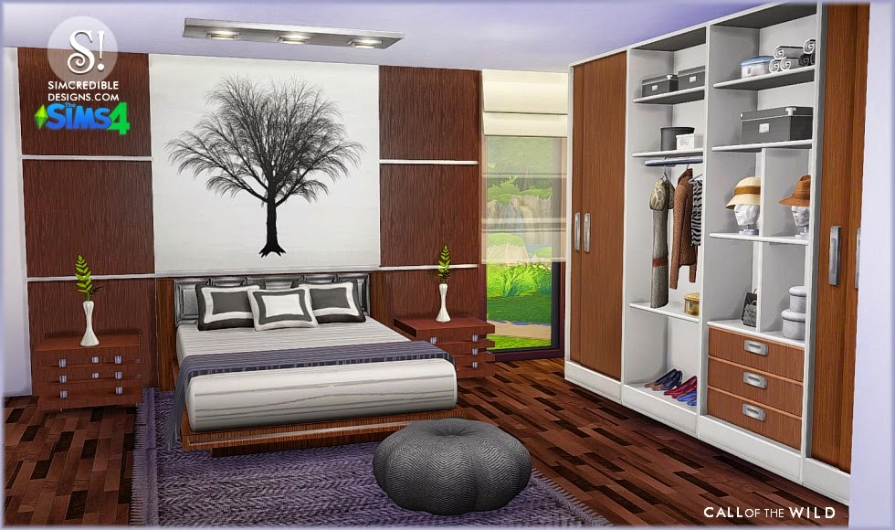 My sims 4 blog call of the wild bedroom set by for Bedroom designs sims 4