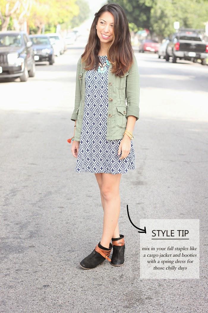 styling a printed shift dress