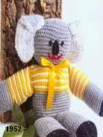 patron gratis koala amigurumi de punto, free knit amigurumi pattern koala