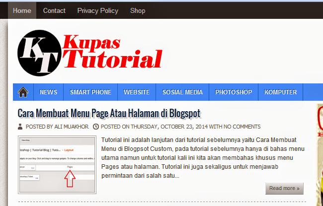 Cara Membuat Tulisan Posting Rata Kanan Kiri atau Justify di Blogspot