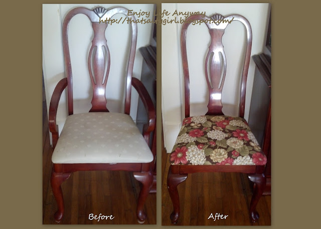 i found two fabrics i liked both from walmart and 697 a yard these were my choices - How To Recover Dining Room Chairs