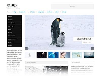 Oxygen Responsive Magazine Theme for WordPress