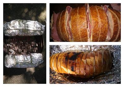 carolynn's recipe box: Grilled Ham and Cheese Pull-Apart Sandwich