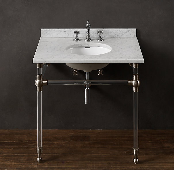 Chrome, marble, bath, vanity