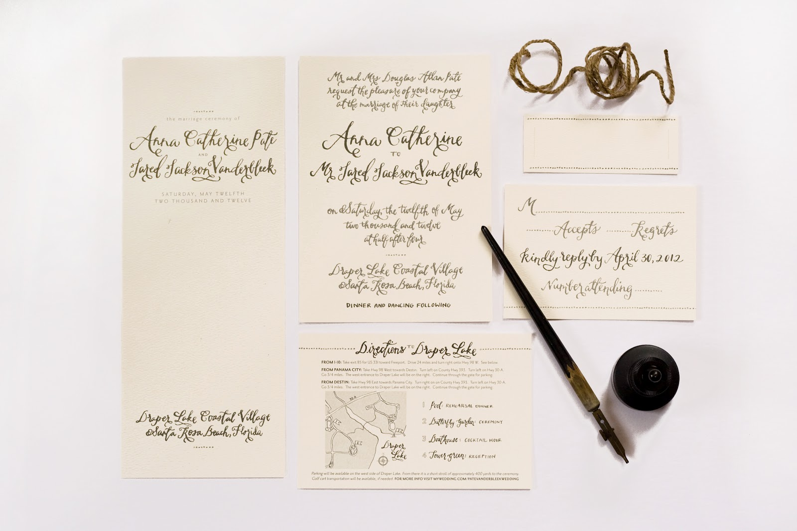 the good stuff: WEDDING INVITATION SUITE: anna pate vanderbleek