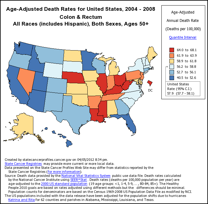 Cancer Multimedia Cancer Statistics Via The NCI - Us cancer rate map