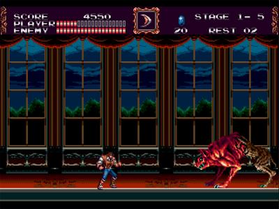 Le premier boss de Castlevania Bloodlines sur Megadrive