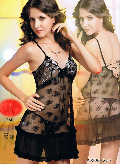8206 : Colour Available : BLACK only, Free Size (Size Fits Most S, M & L) with G-String RM 49 EACH