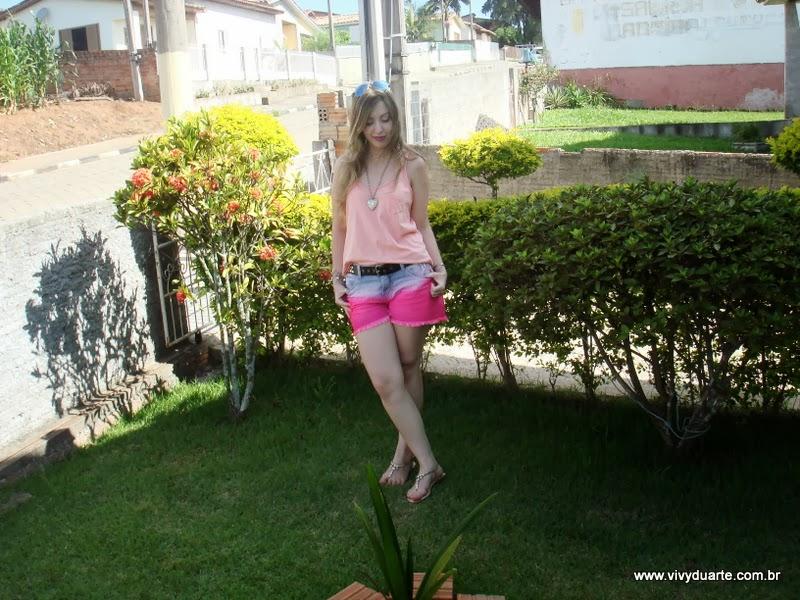 63f1c1fb02413 Vivy Duarte  Look do Dia  Shorts Degrade