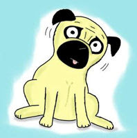 Humphrey Pug Cartoon