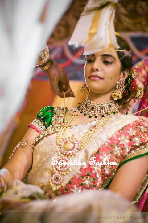 Sparkling Fashion Latest Talambralu Sarees With Designer Blouses