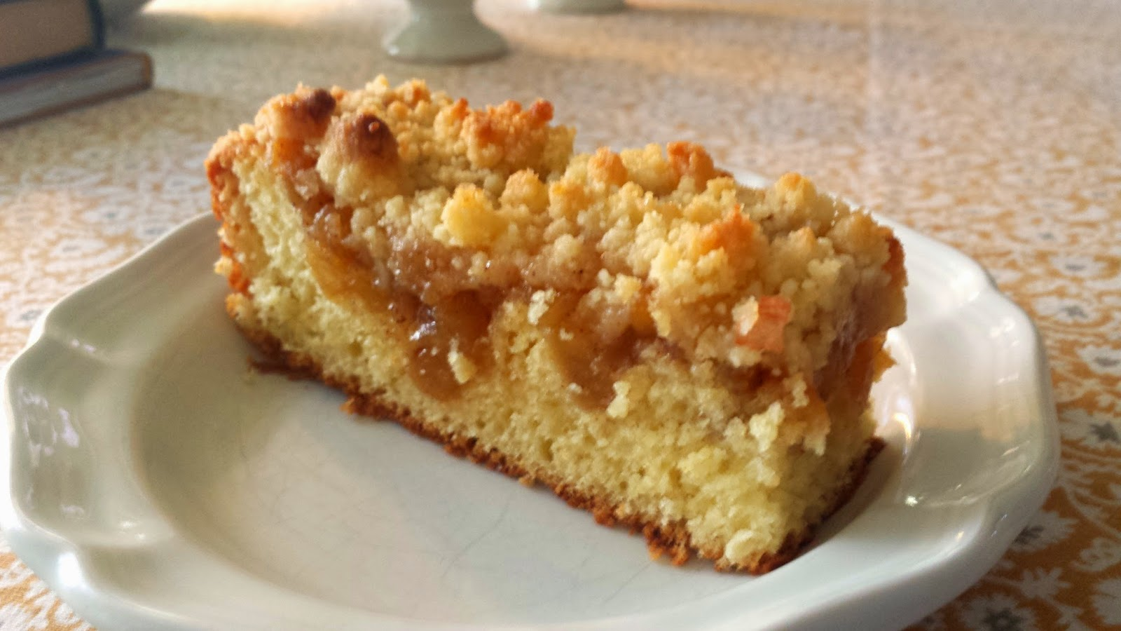 For Love Of The Table Yeasted Apple Streusel Coffee Cake Apfel