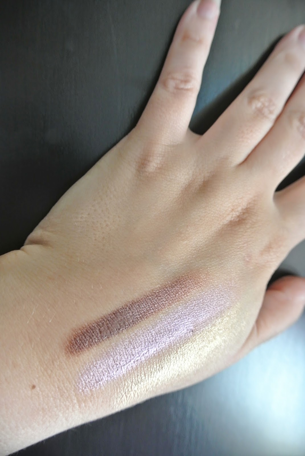 Shade Swatches: Awesome Blossom, Lilac You A Lot!, Good as Mari-gold