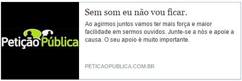 ASSINE JÁ O ABAIXO ASSINADO!