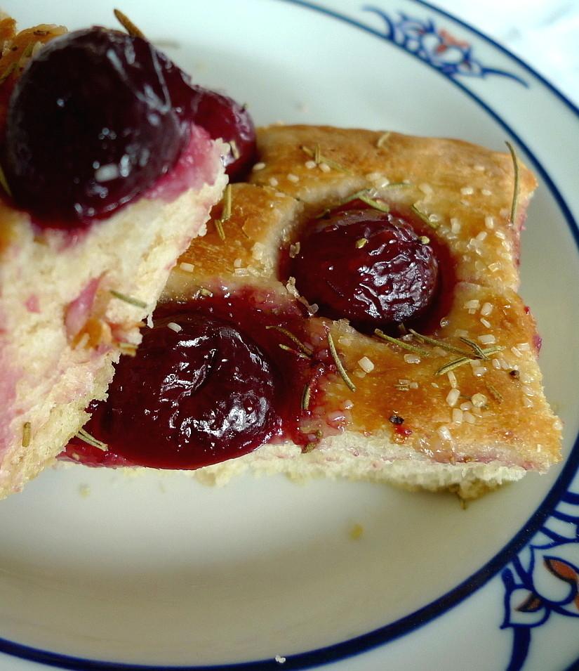 SWEET AS SUGAR COOKIES: Cherry Rosemary Focaccia