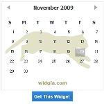 Cat Calendar Gadget